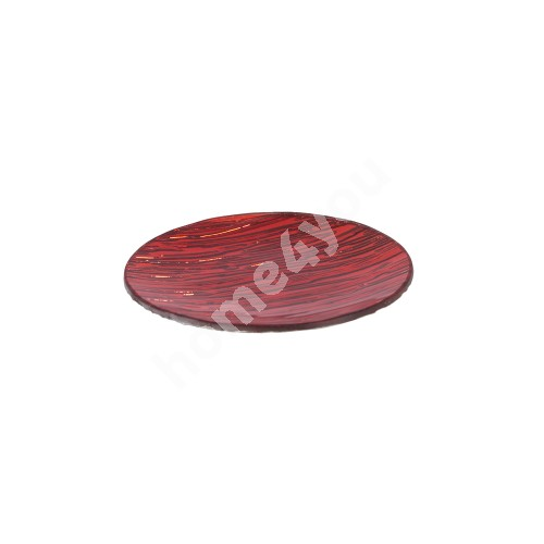 Glass plate D15cm, red