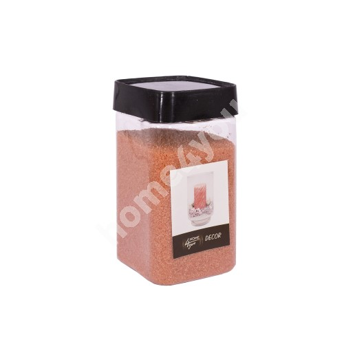 Color sand DECOR, orange, size: 1-2mm, weight: 450g