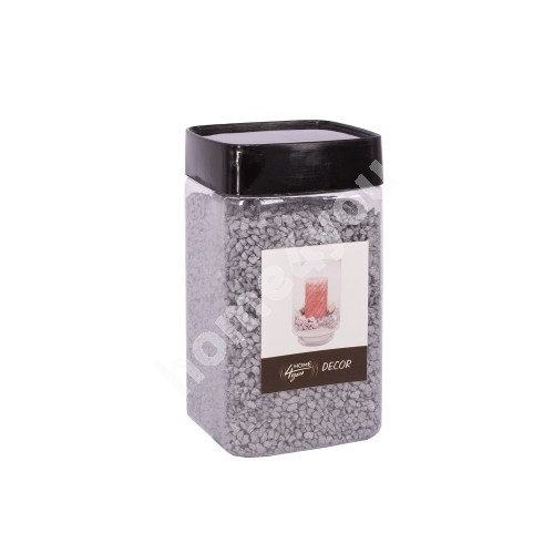 Color sand DECOR, silver, size: 1-2mm, weight: 450g
