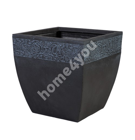 Flowerpot FLORE-2, 38x38xH37cm, dark grey