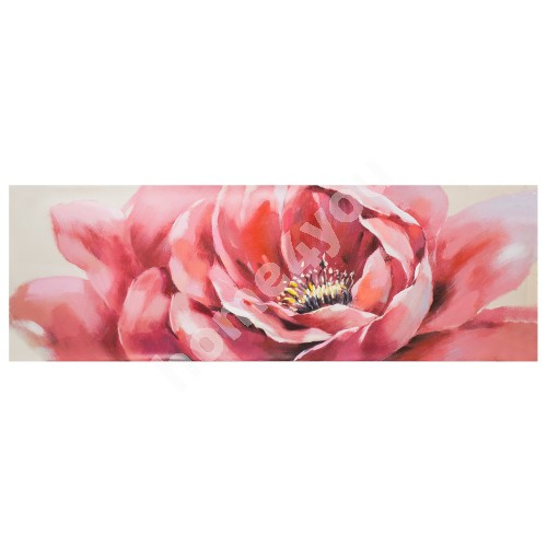 Oil painting 50x150cm, pink flower