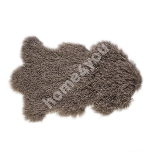 Natural sheepskin TIBET L, 60x95cm, brown