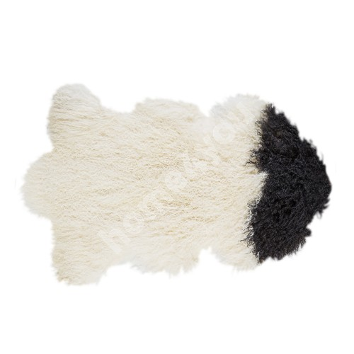 Natural sheepskin TIBET L, 60x95cm, black&white