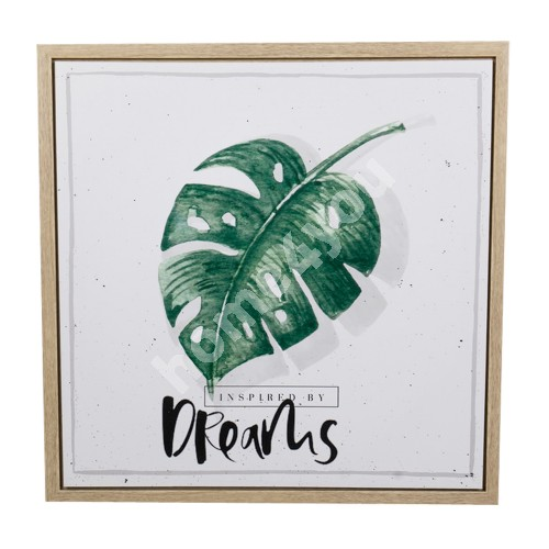 Canvas print NATURE with frame, 60x60x3cm, dreams