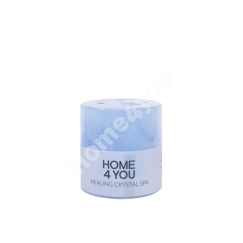Candle HEALING CRYSTAL SPA, D6.8xH7.2cm, light blue ( scent- ocean)