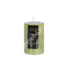 Candle ENERGIZING LEMONGRASS, D6.8xH9.5cm, green ( scent- lemongrass)