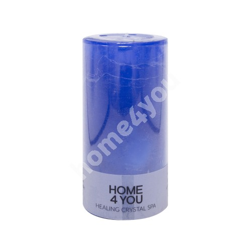 Candle HEALING CRYSTAL SPA, D6.8xH14cm, dark blue ( scent- ocean)