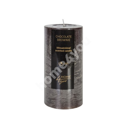 Candle CHOCOLATE BROWNIE, D6.8xH14cm, dark brown ( scent- chocolate)