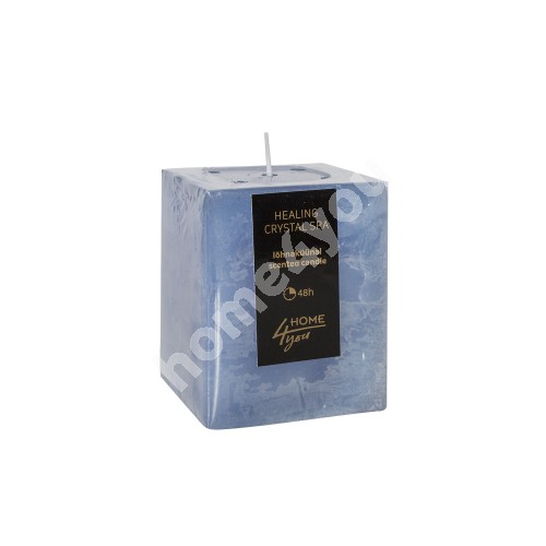Candle HEALING CRYSTAL SPA, 7.5x7.5xH10cm, light blue ( scent- ocean)