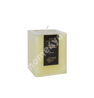 Candle JOYFUL PASSION FRUIT, 7.5x7.5xH10cm, light yellow ( scent- passion)
