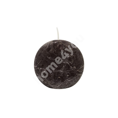 Candle CHOCOLATE BROWNIE, D7.5cm ball, dark brown ( scent- chocolate)
