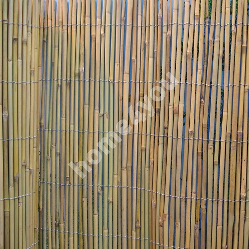 Bamboo cane fence IN GARDEN, 2x5m, natural bamboo D8/10mm