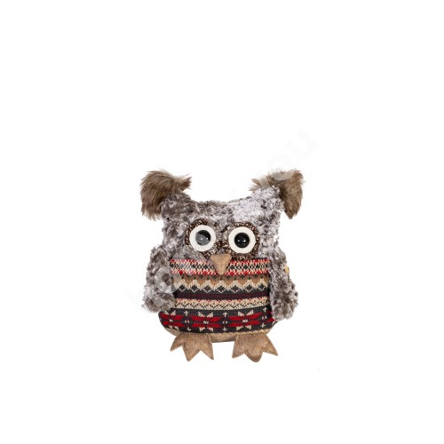 Owl L, patterned sweater, H21cm
