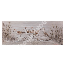 Oil painting 50x150cm, birds