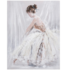 Масляная картина 80x100см, женщина в белом платье