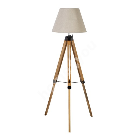 Floor lamp RINGO WOOD, brown