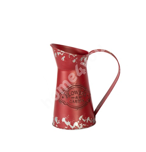 Can VINTAGE GARDEN, H20cm, antique red tin