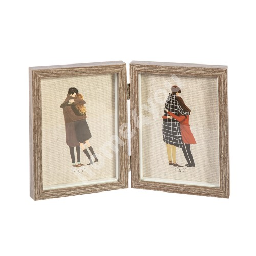 Photo frame YOUTH, 2-section, 13x18cm, dark brown wood