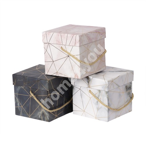 Kinkekarp FRANCO, 12x12xH11cm, marmor/kuld mix
