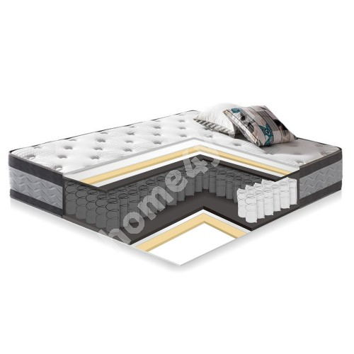 Spring mattress HARMONY DUO NEW, 160x200xH27cm, double-side, in rollbox