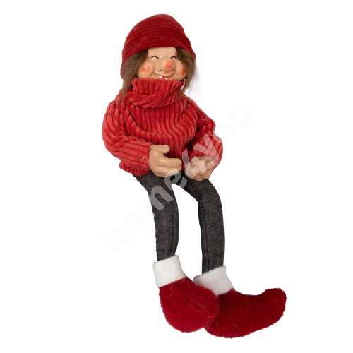 Funny santa boy UDO, with a red sweater, H15cm