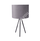 Настольная лампа TRINITY H42см, серая / черные ножки