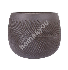 Flowerpot, low  PALM-2, D36xH25cm, brown