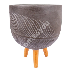 Flowerpot with legs PALM-1, D36xH38cm, brown