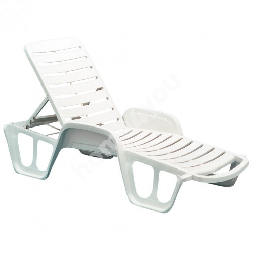 Deck chair FISSO 71x192x45cm, material: plastic, color: white