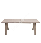 Söögilaud A-LINE 210/310x100xH74cm, pikendatav, lauaplaat: spoonitud mööbliplaat, jalad: puit, viimistlus: õlitatud valg