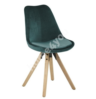 Tool DIMA 48x55xH85cm, iste/ seljatugi: samet kangas, värvus: sinakasroheline, jalad: kummipuu, viimistlus: tammepeits