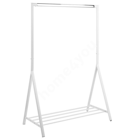 Clothes rack BRENT, 117x59xH165cm, metal white/chrome