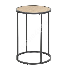 Столик вспомогательный SEAFORD D40xH55см, cтолешница: мебельная пластина с ламинированным покрытием, цвет: дуб