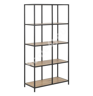 Полка SEAFORD 77x35xH150cм, полки: мебельная пластина с ламинированным покрытием, цвет: дуб, рама: чёрный металл