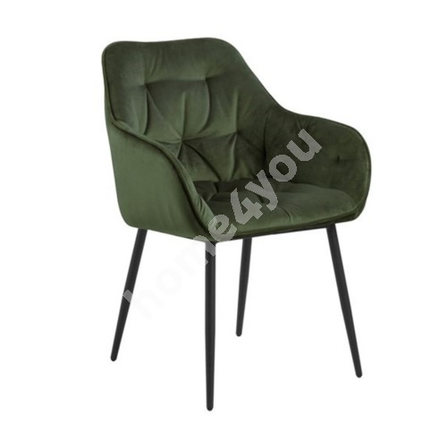 Chair BROOKE 55x58xH83cm, forest green