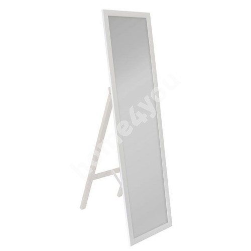 Floormirror with support leg White 40x160cm