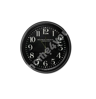 Metal Clock Black, D47cm