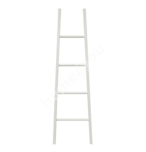 Декоративная лестница 155x31/48cм, белая, деревянная