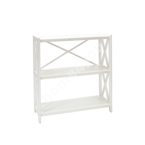 Shelf ALEX 3-tier, 80x31xH86cm, wood: pine, color: white