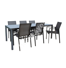 Aiamööblikomplekt  AMALFI laud ja 6 tooli (14533), hall