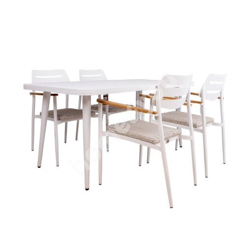 Garden furniture set WALES table and 4 chairs