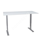 Desk ERGO with 2-motors 160x80cm white grey