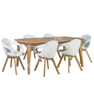 Söögilauakomplekt RETRO 6-tooliga (37034) 190x90xH75cm, puit: tamm, viimistlus: õlitatud