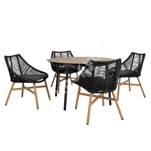 Set HELSINKI table and 4 chairs (20532)