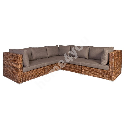 Corner sofa CROCO 263/263x93xH73cm, natural rattan weaving