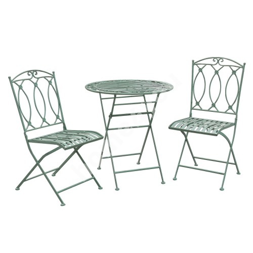Balcony set MINT table and 2 chairs (40053) wrought iron, antique green