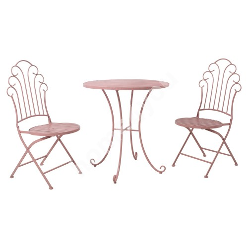 Balcony set  ROSY table and 2 chairs (40063), pink