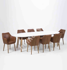 Söögilauakomplekt BELINA 8-tooliga (AC55607) 170/270x100xH74cm, pikendatav, lauaplaat: puit, värvus: valge, jalad: puit