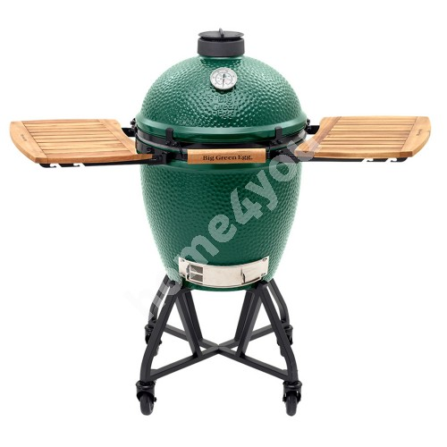 Large Big Green Egg set with intEGGrated Nest w/ Handler and Acacia Wood EGG Mates