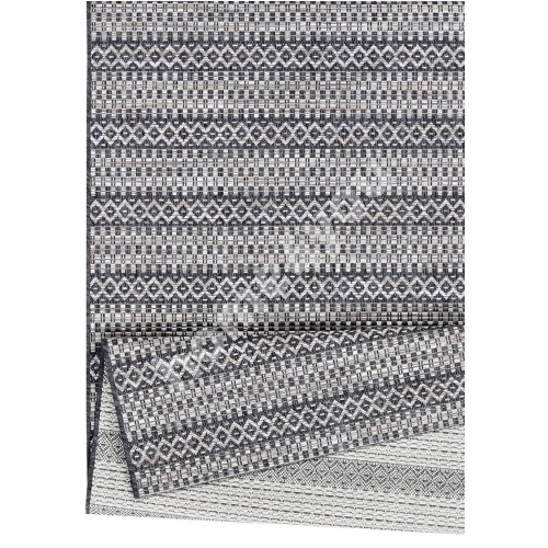 Carpet HENDRIK 80x150 anthracite/cliff grey, flatweave rug for outdoor